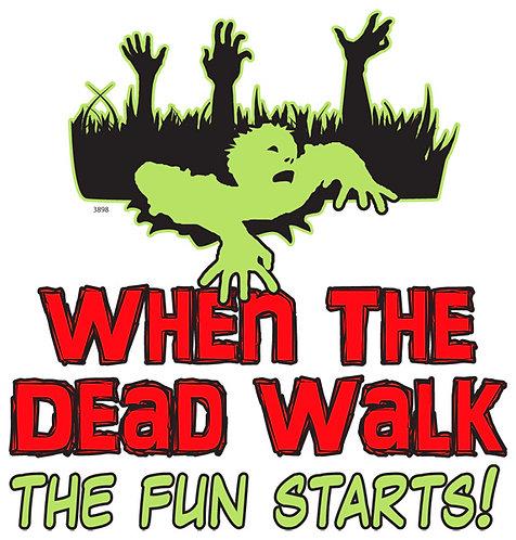 When The Dead Walk T-shirt Transfers 12pc