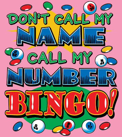 Bingo T-shirt Transfers 12pc
