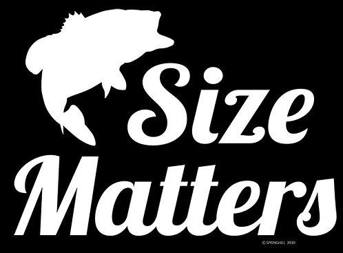 Size Matters Fishing T-shirt Transfers 12pc