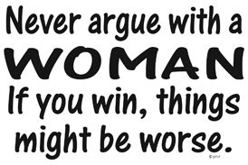 Never Argue With A Woman T-shirt Transfers 12pc