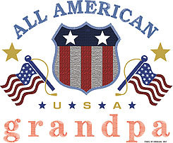 All American Grandpa T-shirt Transfers 12pc