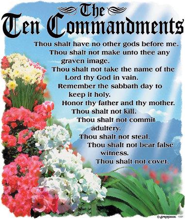 10 Commandments T-shirt Transfers 12pc