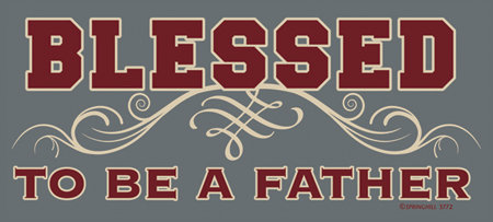 Blessed Father T-shirt Transfers 12pc