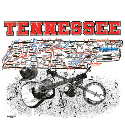 Tennessee T-shirt Transfers 12pc
