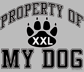 Property of my Dog T-shirt Transfers 12pc