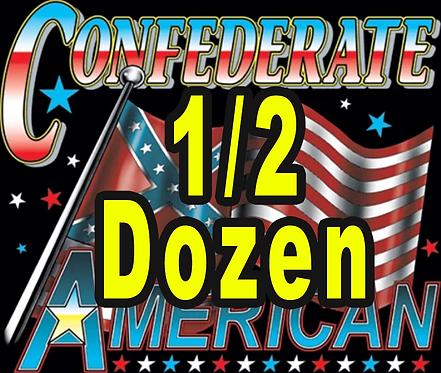 Confederate American T-shirt Transfers 6pc