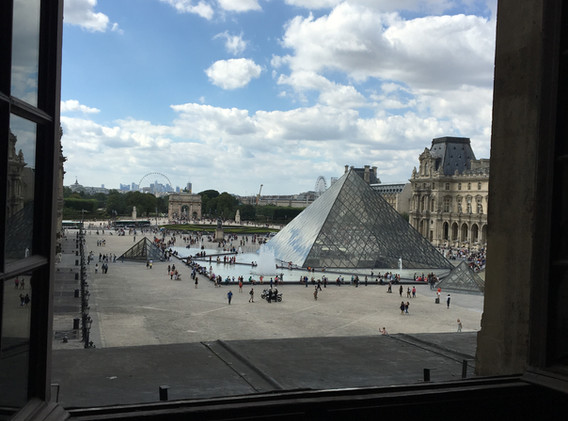 Out a Window at the Louvre