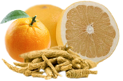 Mandarin-, narancs- és ginzeng