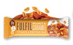 Mogyorós-karamellás fehérjeszelet vitaminokkal csokoládé-bevonattal édesítőszerekkel