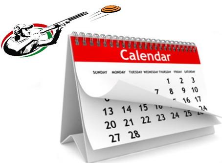 Календарь соревнований на 2020 год.