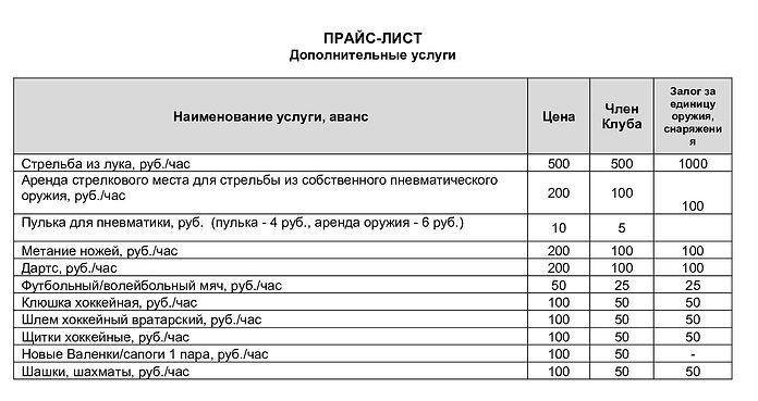 2019.10.10 ПРАЙС для сайта доп услуги.1.