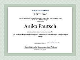 Anika Pautsch Certifikat Fjernelse af ta