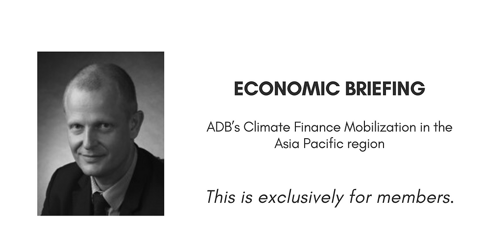Economic Briefing with Frederic Asseline form ADB