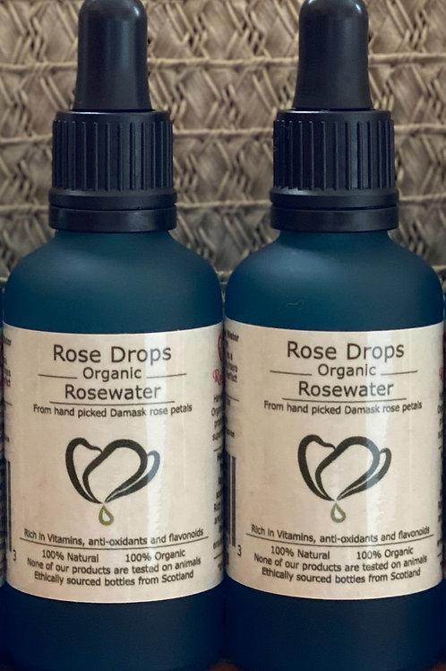 Rosedrops Organic Rosewater 50ml