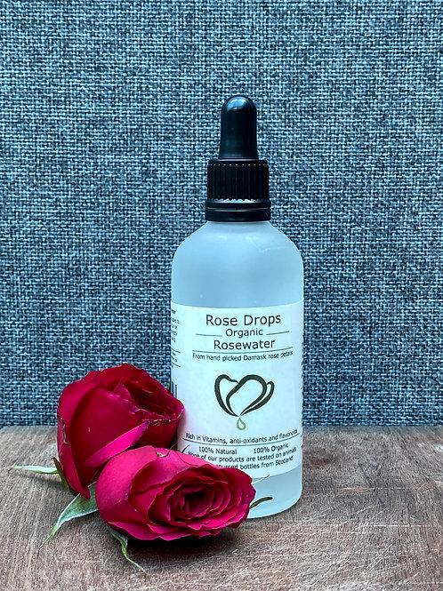 Rosedrops Organic Rosewater 100ml
