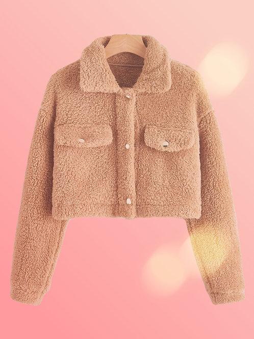 Crop Top Teddy Jacket