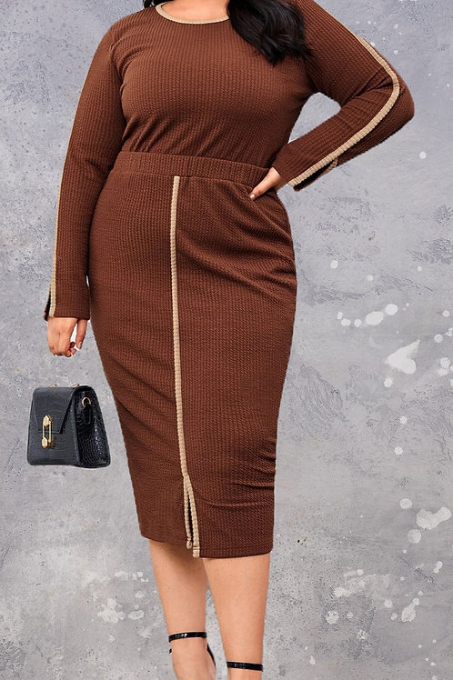 Knit Skirt and Top Set