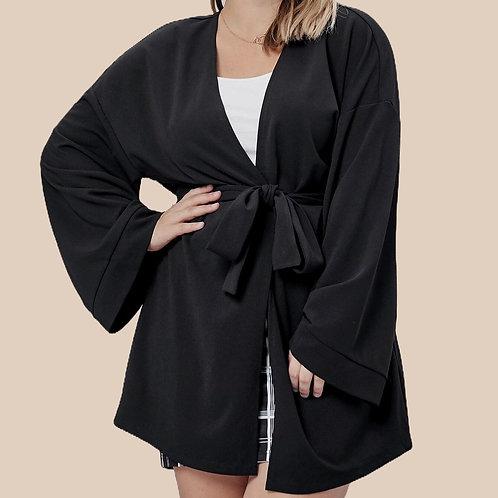 Belted Drop Shoulder Coat