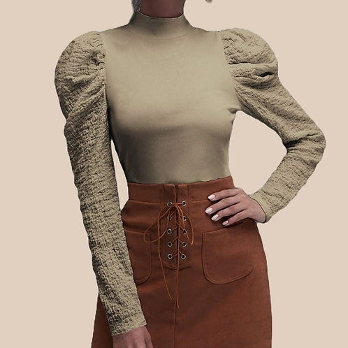 Gigot Sleeve Knit top