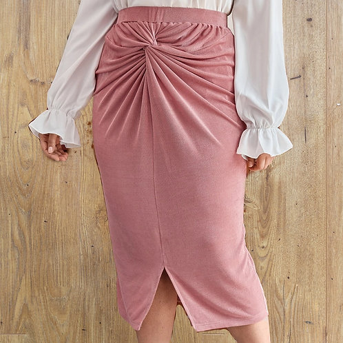 Twist Front Split Skirt
