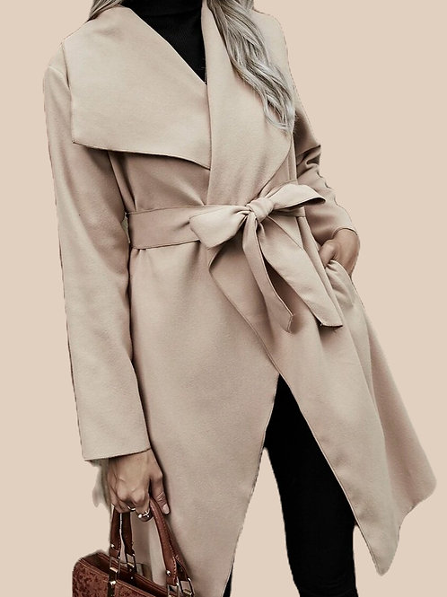 Waterfall Belted Coat