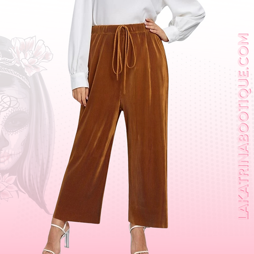 Front Knot Wide Leg Pants