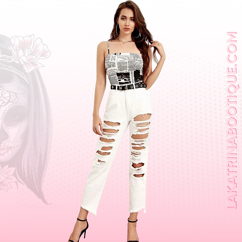 Raw Ripped Jeans