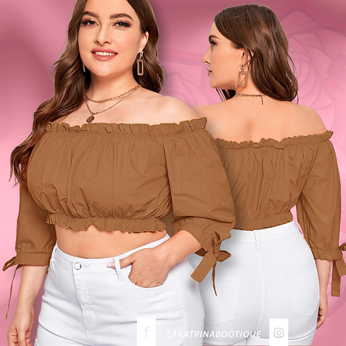 Sunkissed Crop Top Blouse