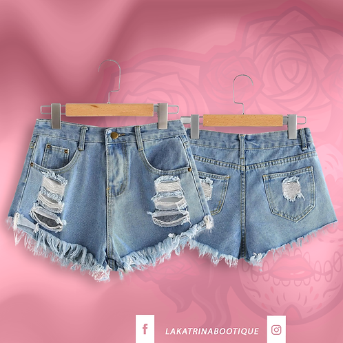 Summer Vibes Denim Shorts
