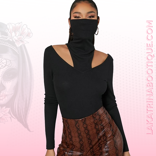 Mask Turtle Neck Long Sleeve