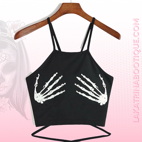 Skeleton Lace Crop Top