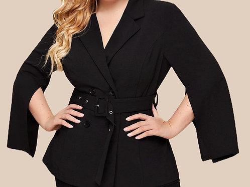 Split Sleeve Double Breasted Coat