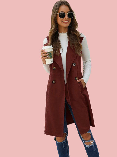 Double Breasted Vest Coat
