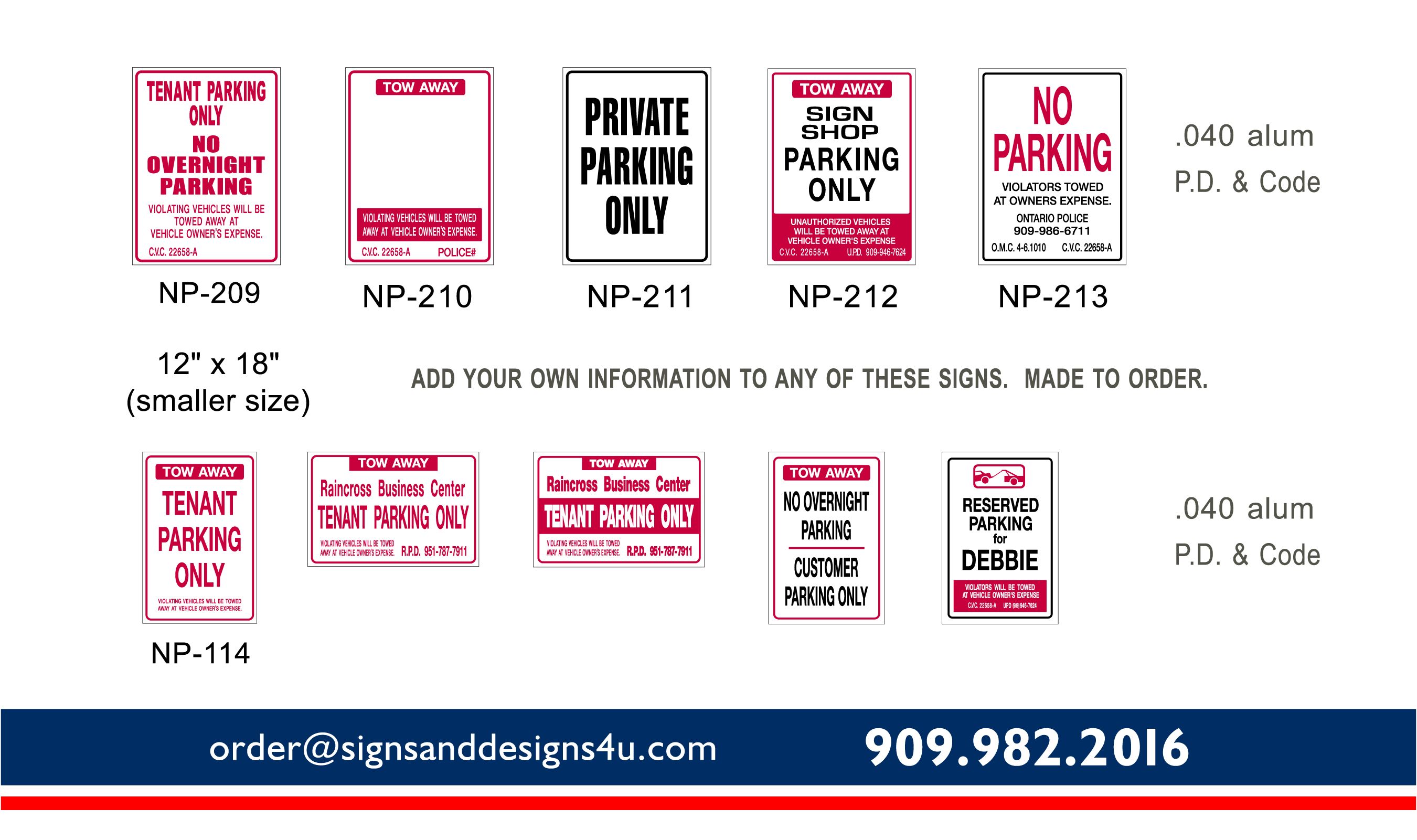 Parking Signs Page 2