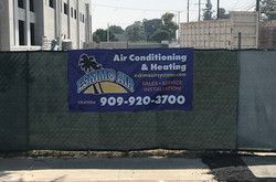 Construction site fence banner