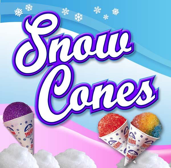 Custom Snow Cone Sign