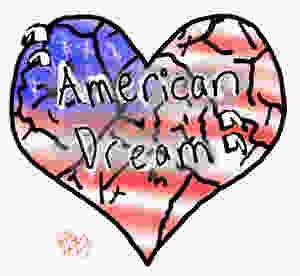 Broken heart with American flag, credit: Bella Ramirez
