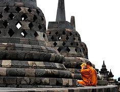 Jogyakarta - Borobudur - Java - moine -
