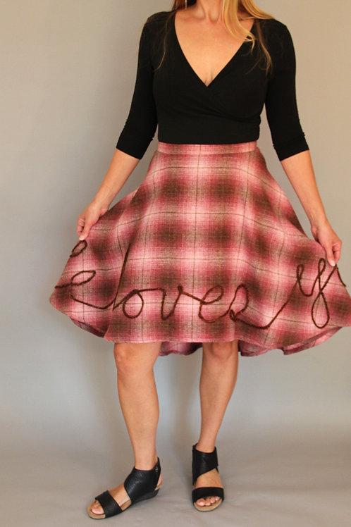 """He loves you"" Skirt by Dot +Maude"