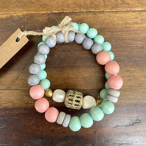 Beaded Bracelet Set by White Cotton Crafts