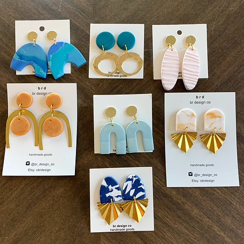 Mediterranean Dreams Clay Earring Collection by BR Design Co.