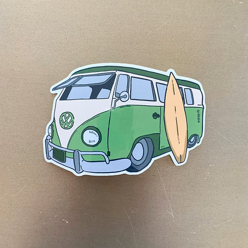 VW Surf Bus Sticker by Lady Doodles Co.