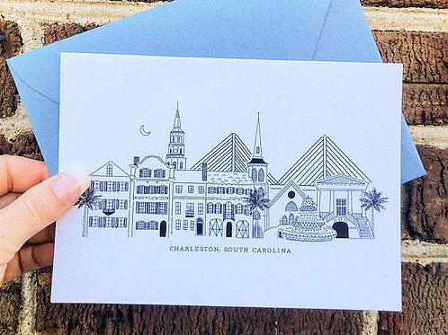 Charleston Skyline Card by Carly Thomas Design