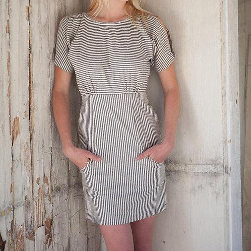 Railroad Stripe Dolman Shift Dress by Maude Couture
