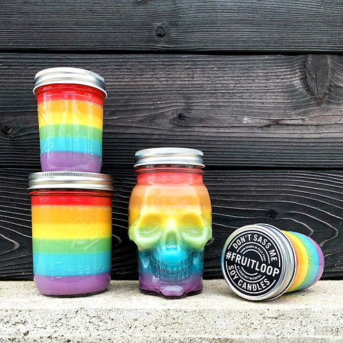 Fruit Loop Soy Candle by Don't Sass Me Soy