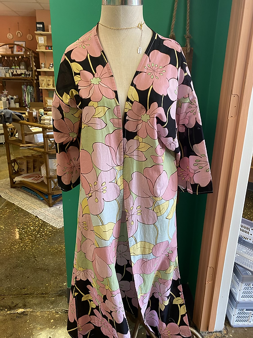 Black and Pink Floral Kimono by Dot + Maude
