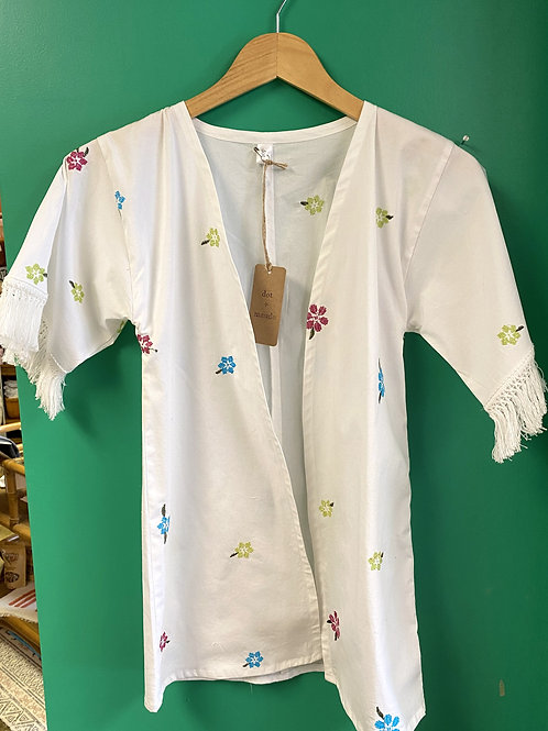 Girl's Embroidered Floral Kimono by Dot + Maude