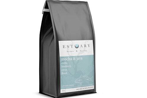 Mocha and Java Grind Coffee by Estuary Beans and Barley