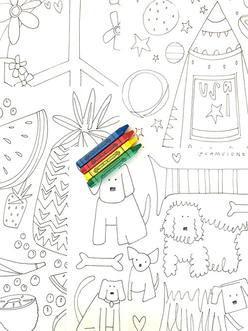 Coloring Sheets by Sam Sidney Draws