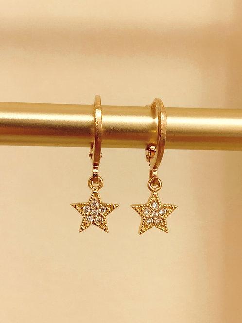 Star Huggie Earrings  by Julia Grace Jewelry